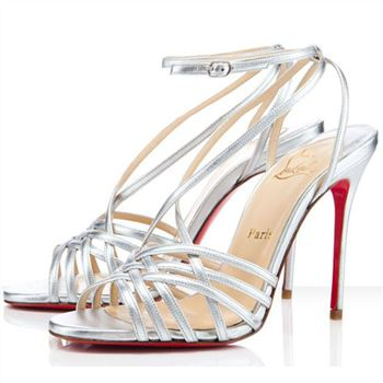 Christian Louboutin Beverly 100mm Sandals Silver