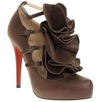 Christian Louboutin Dillian 120mm Mary Jane Pumps Brown